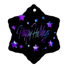 Happy Holidays 6 Ornament (snowflake)  by Valentinaart