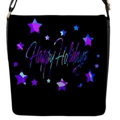 Happy Holidays 6 Flap Messenger Bag (s) by Valentinaart