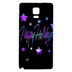Happy Holidays 6 Galaxy Note 4 Back Case by Valentinaart