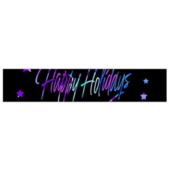 Happy Holidays 6 Flano Scarf (small) by Valentinaart