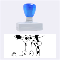 Xmas Giraffe   Blue Rubber Stamps (large) by Valentinaart