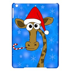 Xmas Giraffe   Blue Ipad Air Hardshell Cases by Valentinaart