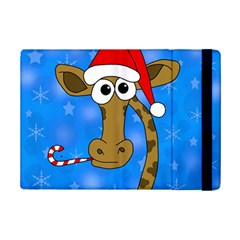 Xmas Giraffe   Blue Ipad Mini 2 Flip Cases by Valentinaart