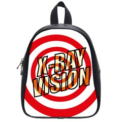 Comic Book X Ray Vision Red Spiral School Bags (small)  by ComicBookPOP