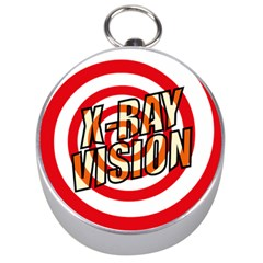 Comic Book X Ray Vision Red Spiral Silver Compasses by ComicBookPOP