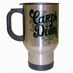 Carpe Diem Travel Mug (Silver Gray)