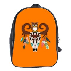 The Owl Designed For Kid s  School Bags(large)  by GabriellaDavid