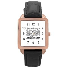 Fear Is The Path   Rose Gold Leather Watch  by awesomegraphics