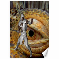 Dragon Slayer Canvas 12  X 18   by icarusismartdesigns