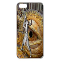 Dragon Slayer Apple Seamless Iphone 5 Case (clear) by icarusismartdesigns