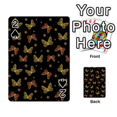 Insects Motif Pattern Playing Cards 54 Designs  by dflcprints