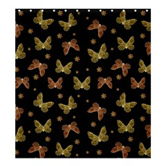 Insects Motif Pattern Shower Curtain 66  X 72  (large)  by dflcprints