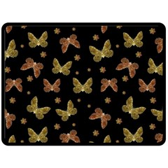 Insects Motif Pattern Fleece Blanket (large)  by dflcprints