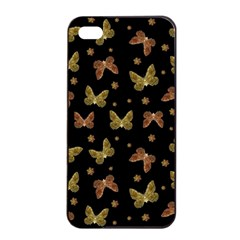 Insects Motif Pattern Apple Iphone 4/4s Seamless Case (black) by dflcprints