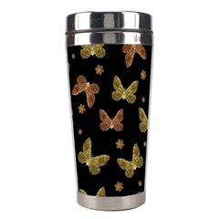 Insects Motif Pattern Stainless Steel Travel Tumblers by dflcprints