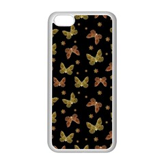 Insects Motif Pattern Apple Iphone 5c Seamless Case (white) by dflcprints