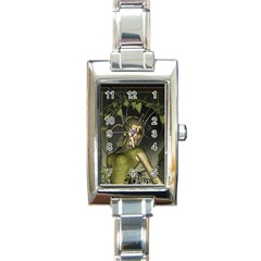 Wonderful Fairy Rectangle Italian Charm Watch by FantasyWorld7