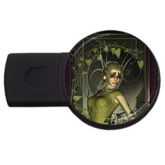 Wonderful Fairy Usb Flash Drive Round (2 Gb)  by FantasyWorld7