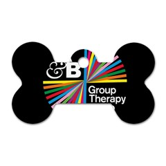 Above & Beyond  Group Therapy Radio Dog Tag Bone (one Side) by Onesevenart
