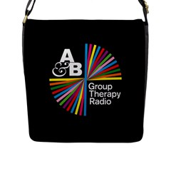 Above & Beyond  Group Therapy Radio Flap Messenger Bag (l)  by Onesevenart