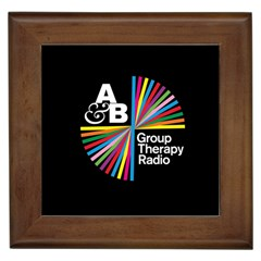 Above & Beyond  Group Therapy Radio Framed Tiles by Onesevenart