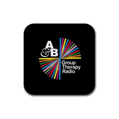 Above & Beyond  Group Therapy Radio Rubber Square Coaster (4 Pack)  by Onesevenart