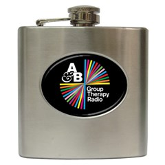 Above & Beyond  Group Therapy Radio Hip Flask (6 Oz) by Onesevenart