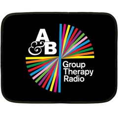 Above & Beyond  Group Therapy Radio Double Sided Fleece Blanket (mini)  by Onesevenart