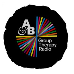 Above & Beyond  Group Therapy Radio Large 18  Premium Round Cushions by Onesevenart