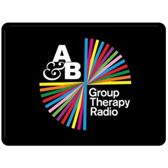 Above & Beyond  Group Therapy Radio Double Sided Fleece Blanket (large)  by Onesevenart