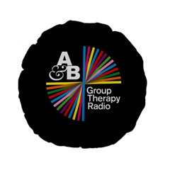 Above & Beyond  Group Therapy Radio Standard 15  Premium Flano Round Cushions by Onesevenart