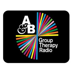 Above & Beyond  Group Therapy Radio Double Sided Flano Blanket (large)  by Onesevenart