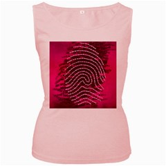 Above & Beyond Sticky Fingers Women s Pink Tank Top by Onesevenart