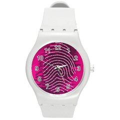 Above & Beyond Sticky Fingers Round Plastic Sport Watch (m) by Onesevenart