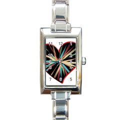 Above & Beyond Rectangle Italian Charm Watch by Onesevenart