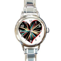 Above & Beyond Round Italian Charm Watch by Onesevenart