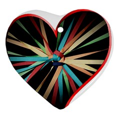 Above & Beyond Heart Ornament (2 Sides) by Onesevenart