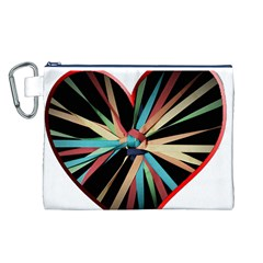 Above & Beyond Canvas Cosmetic Bag (l) by Onesevenart