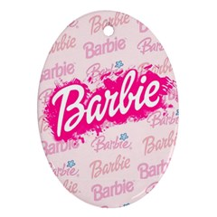 Barbie Pattern Oval Ornament (two Sides) by Onesevenart