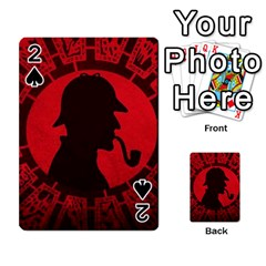 Book Cover For Sherlock Holmes And The Servants Of Hell Playing Cards 54 Designs  by Onesevenart