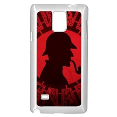 Book Cover For Sherlock Holmes And The Servants Of Hell Samsung Galaxy Note 4 Case (white) by Onesevenart