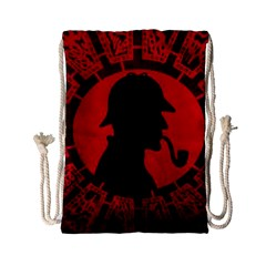 Book Cover For Sherlock Holmes And The Servants Of Hell Drawstring Bag (small) by Onesevenart