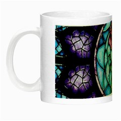 Cathedral Rosette Stained Glass Beauty And The Beast Night Luminous Mugs by Onesevenart