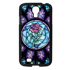 Cathedral Rosette Stained Glass Beauty And The Beast Samsung Galaxy S4 I9500/ I9505 Case (black) by Onesevenart