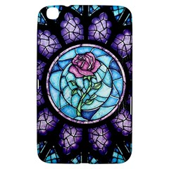 Cathedral Rosette Stained Glass Beauty And The Beast Samsung Galaxy Tab 3 (8 ) T3100 Hardshell Case  by Onesevenart
