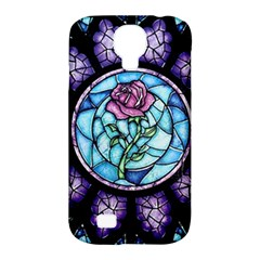 Cathedral Rosette Stained Glass Beauty And The Beast Samsung Galaxy S4 Classic Hardshell Case (pc+silicone) by Onesevenart
