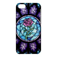 Cathedral Rosette Stained Glass Beauty And The Beast Apple Iphone 5c Hardshell Case by Onesevenart