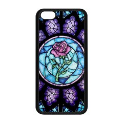 Cathedral Rosette Stained Glass Beauty And The Beast Apple Iphone 5c Seamless Case (black) by Onesevenart