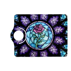Cathedral Rosette Stained Glass Beauty And The Beast Kindle Fire Hd (2013) Flip 360 Case by Onesevenart