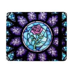 Cathedral Rosette Stained Glass Beauty And The Beast Samsung Galaxy Tab Pro 8 4  Flip Case by Onesevenart